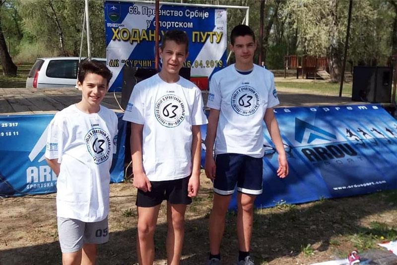 Ardu Sport na 63. Prvenstvu Srbije u sportskom hodanju na putu